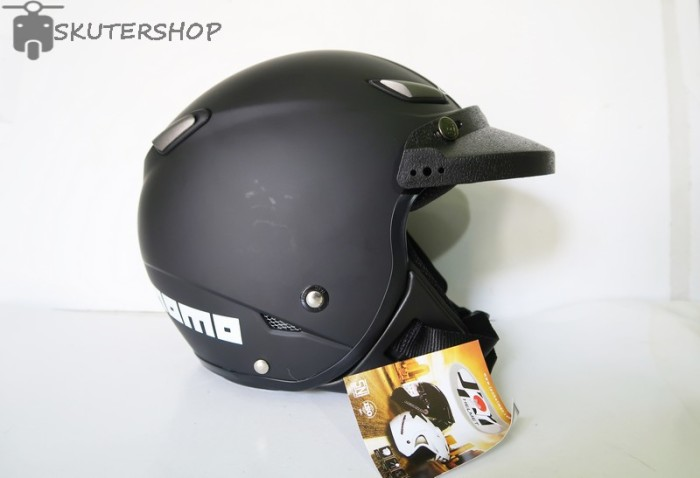 harga Helm retro pilot klasik jpn momo black doff + pet Tokopedia.com