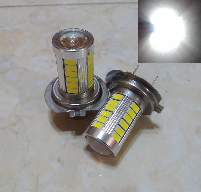 harga Lampu Foglamp H7 Led 33 Titik Lensa Projector Putih Tokopedia.com