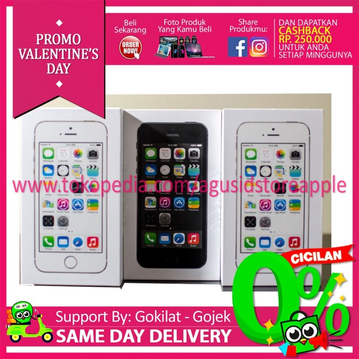 Ready bnib iphone 5s 16gb garansi 1 tahun apple