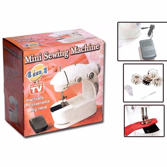 Foto Produk Mesin jahit portable 4 in 1 sewing machine ada Lampu dari Lapak Anda