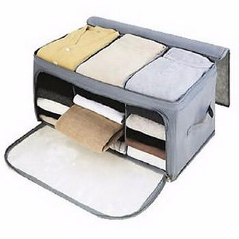Foto Produk Storage Bag - Tas Penyimpanan Pakaian 2 Resleting dari Lapak Anda