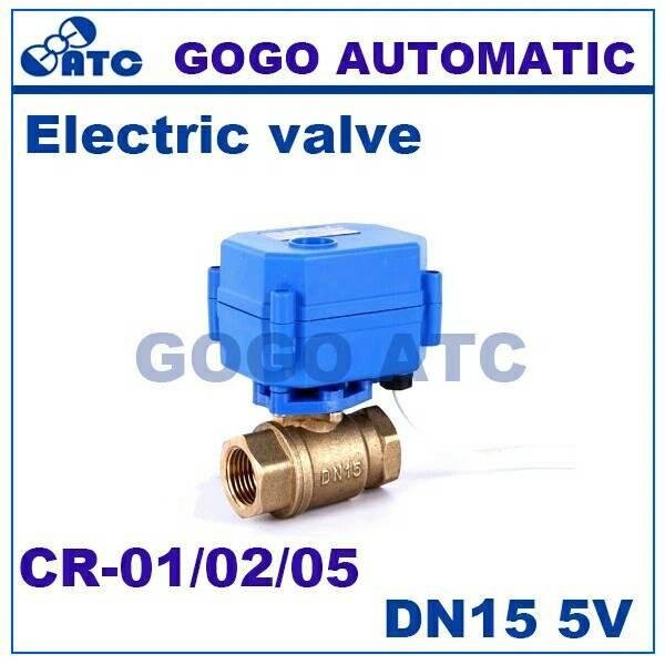 harga 1/2  dn15 dc5v brass motorized ball valve cr-02 kran elektrik Tokopedia.com