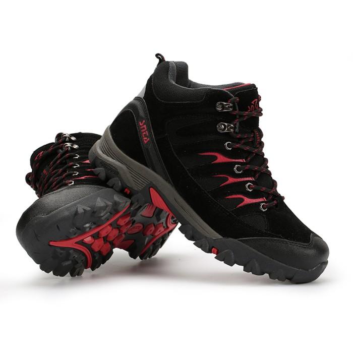 harga Sepatu gunung snta 475 black red adventure hiking/trekking/outdoor Tokopedia.com