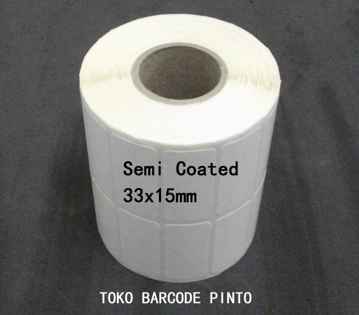 33x15mm 2line 2000pcs,gap core1 ,semi coated,label sticker barcode