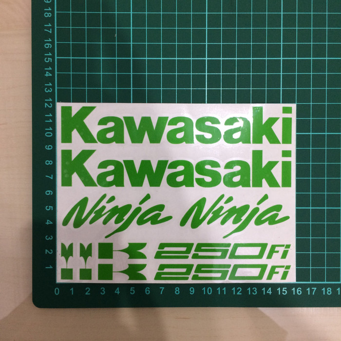 harga Sticker Cutting Aksesoris Motor Kawasaki Ninja Tokopedia.com