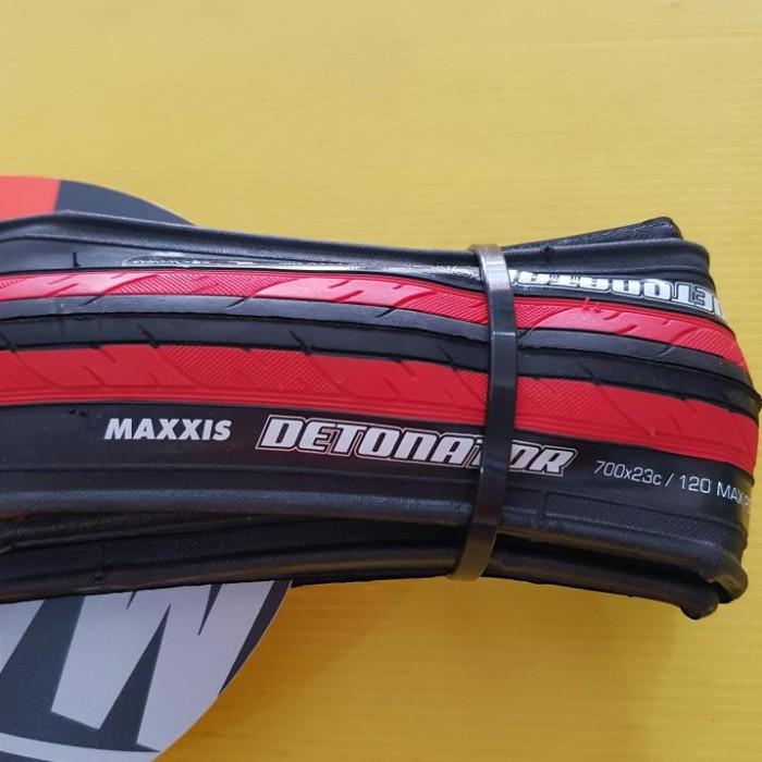 harga Ban Luar Sepeda Maxxis Detonator 700x23c Black Red Tokopedia.com