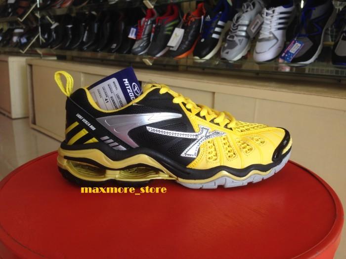 Jual Sepatu Mitzuda Sepatu Voli Light Verza Duo Kuning Hitam