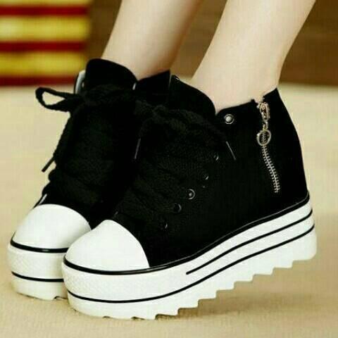 harga Cm15 hitam sepatu sandal wedges boot heel flatshoes kets sneakers Tokopedia.com