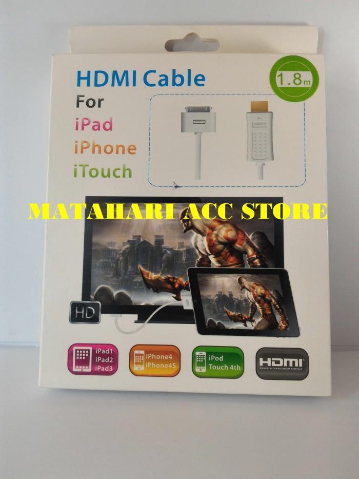 ... harga Kabel sambungan hdmi iphone 3g/ 3gs/ 4g/ 4s/ original Tokopedia.