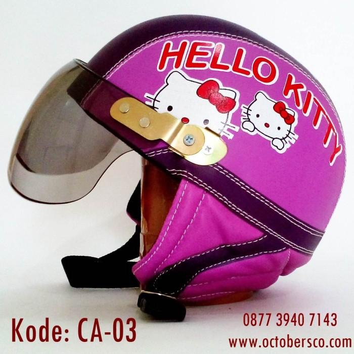 Helm Anak Cewe Hello Kitty usia 1 2 3 4 5 th tahun anak cewe .