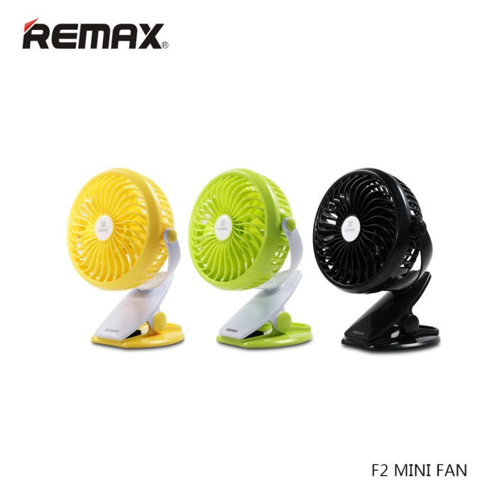 Foto Produk Original REMAX Clip Rechargeable USB Mini Fan - F2 dari lilyana99