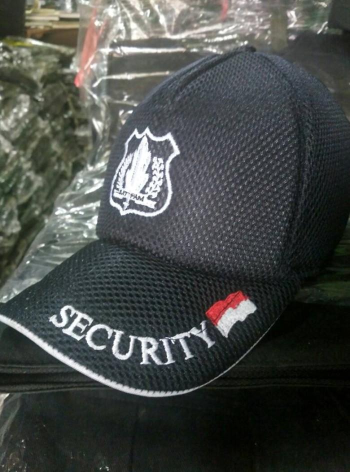 Topi Security Logo Satpam Topi Satpam Topi Jala Dobel Mess Hitam ... 124da7226e