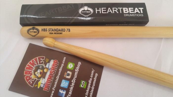 Foto Produk HeartBeat HBS7BHO - 7B HBS Standard Oval Tip Hickory Stick dari FrankieDrumShop