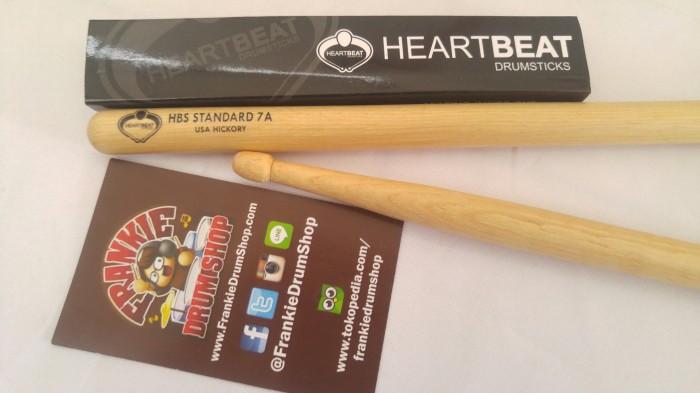 Foto Produk HeartBeat HBS7AHA - 7A HBS Standard Acorn Tip Hickory Stick Drum dari FrankieDrumShop