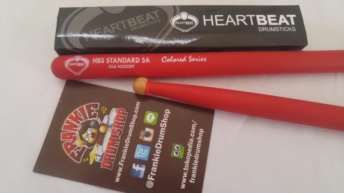 Foto Produk HeartBeat HBS5AHRCR - 5A Red HBS Standard Round Tip Hickory Stick dari FrankieDrumShop