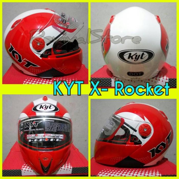 Helm KYT X Rocket Merah Putih Murah Full Face