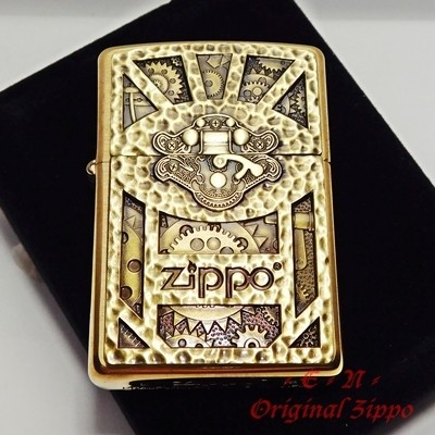 Jual Zippo Steampunk Gold Machinery Emblem 29103 Original Korek Api USA -  Jakarta Pusat - Trendsetter Mall   Tokopedia