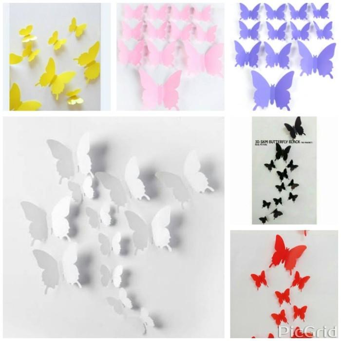 harga 3d butterfly decoration no magnet Tokopedia.com