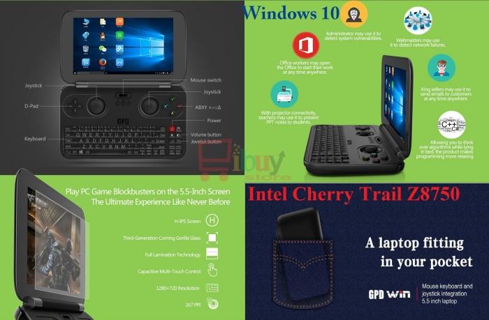 harga Gpd win gamepad tablet pc 5.5 inch windows 10 intel cherry trail z8750 Tokopedia.com