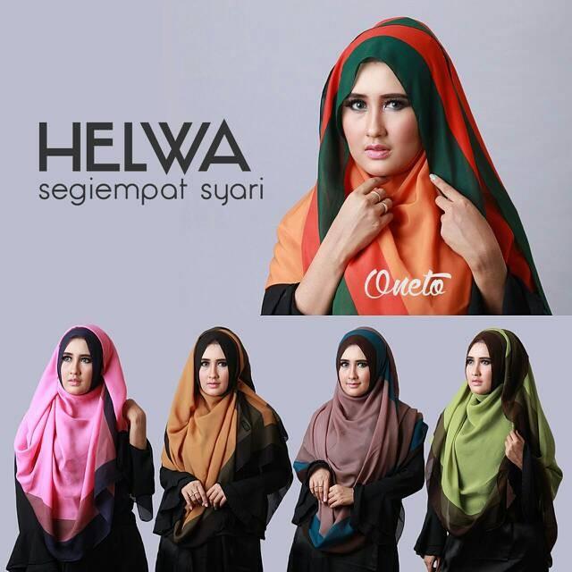 harga Kerudung hijab jilbab segi 4 ice cream helwa syari jumbo Tokopedia.com