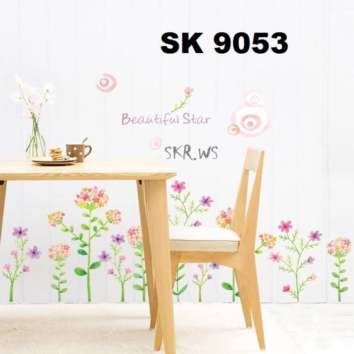Design Dapur Menyatu Dengan Taman  jual stiker dinding wall sticker motif taman bunga kab malang mpudh store tokopedia