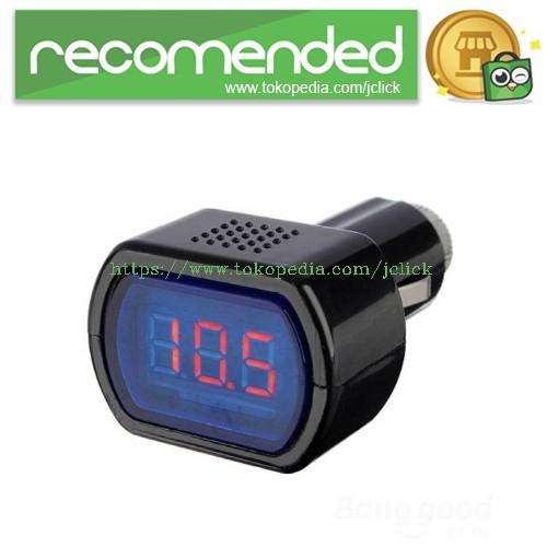 harga Mini car lcd battery voltage meter monitor 12v - black Tokopedia.com