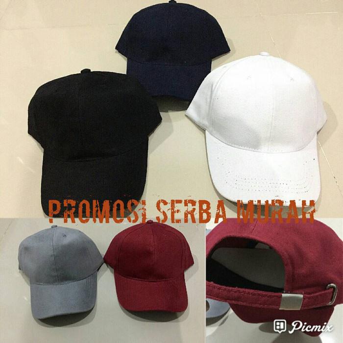 Jual topi polos   topi full bahan   topi baseball   topi pria   topi ... 8bbc65756b