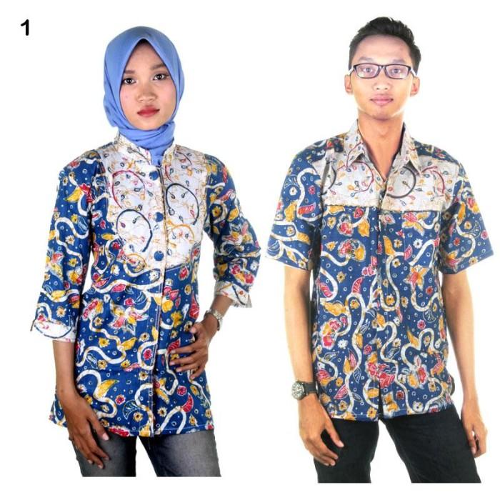 harga Batik couple | sarimbit blus batik adijaya Tokopedia.com