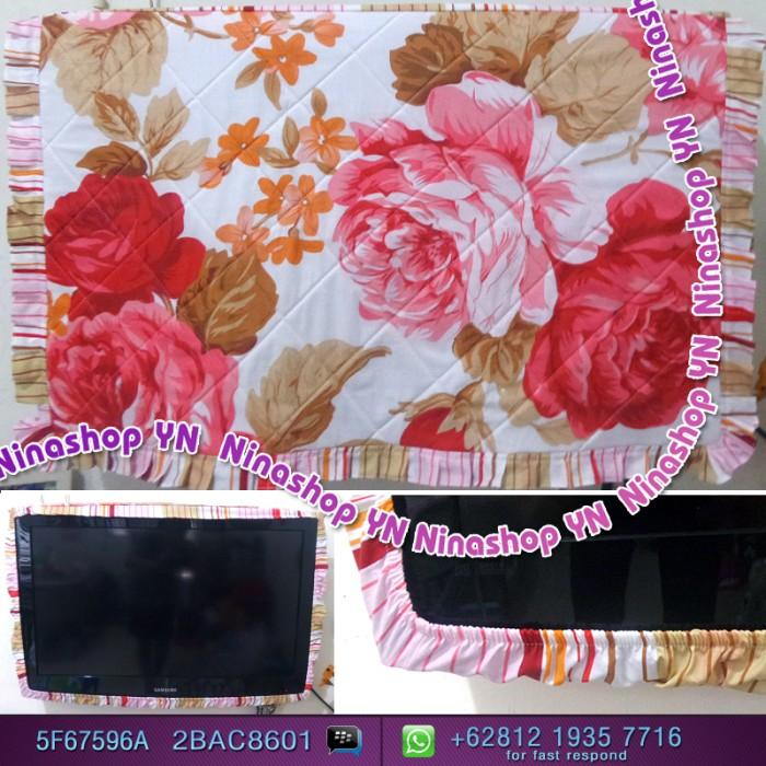 harga Cover tv,bando tv,tutup tv led/lcd motif big rose Tokopedia.com