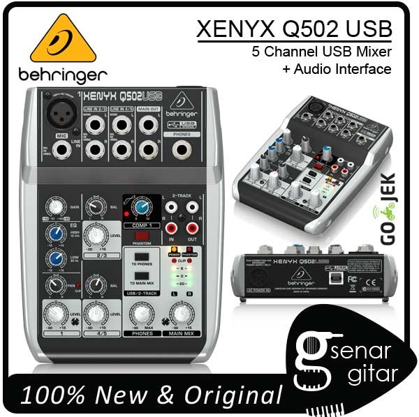 Behringer Xenyx Q502 USB - 5 Channel USB Mixer Q502USB