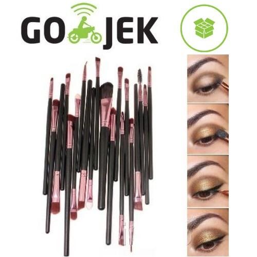 harga Set kuas make up 20 pcs 20pcs uk professional cosmetic makeup brush Tokopedia.com