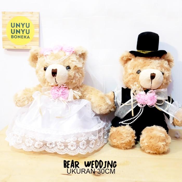 harga Teddy bear wedding 30cm teddy bear couple teddy bear pasangan nikah Tokopedia.com