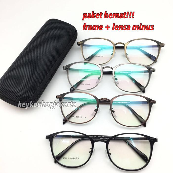 Free lensa minus - frame kacamata pria wanita american vintage 9582 98868cc5a1