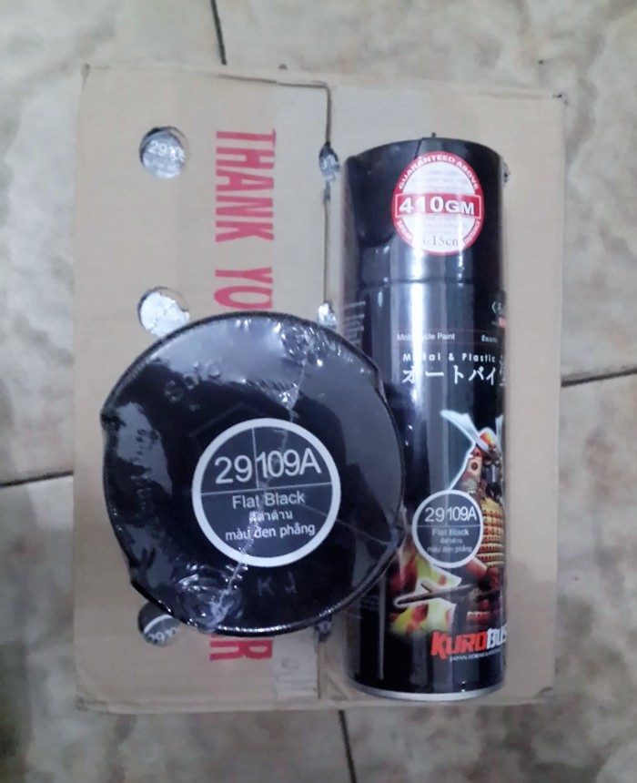 Samurai Paint Source · Pilok Samurai Paint Flat Black 109A Hitam Doff