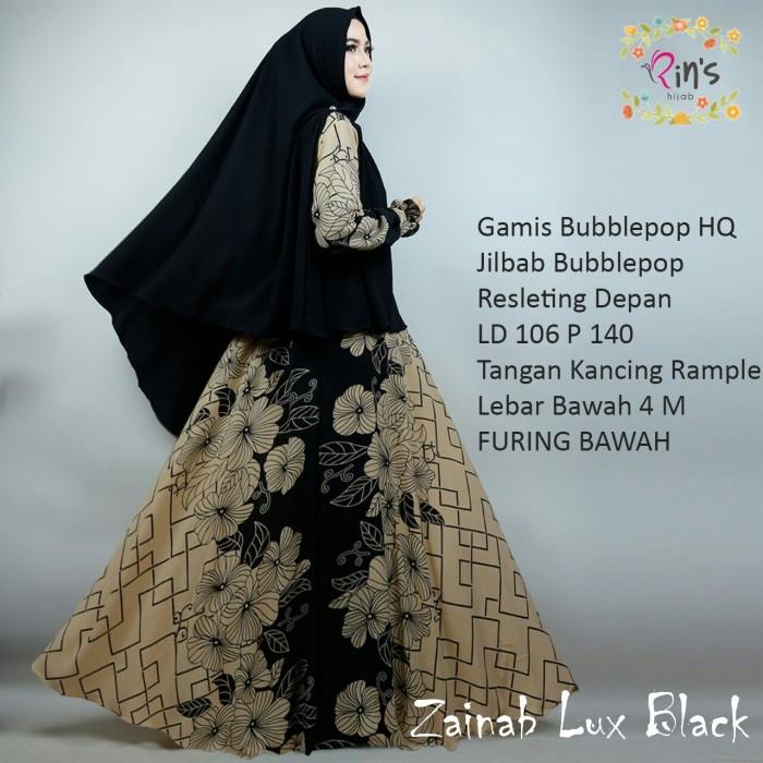 Jual Gamis Syari Modern Setelan Baju Pesta Wanita Muslim Bunga Zainab Jakarta Pusat Lula Toko Tokopedia