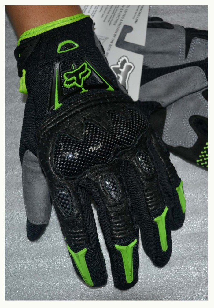 Sarung tangan fox bomber hitam hijau / glove fox bomber black green