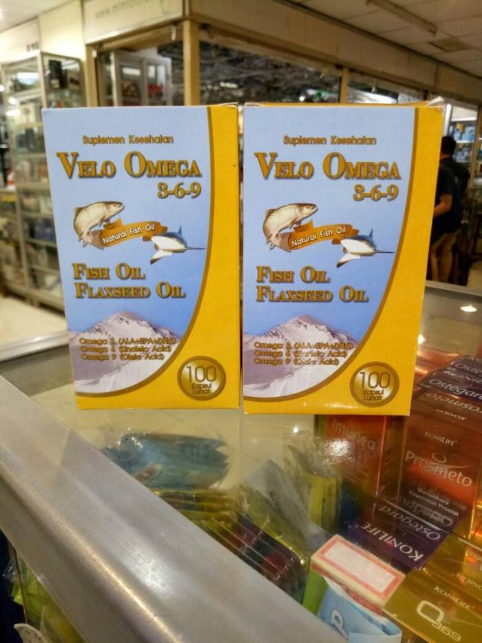 harga Velo omega 369 1000 mg epa&dha +flaxseed oil 100 sofgel Tokopedia.com