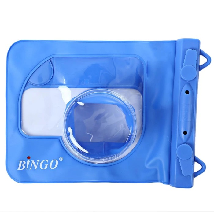 harga Bingo waterproof case for mirrorless - blue - fit sony a5000/eos m10 Tokopedia.com