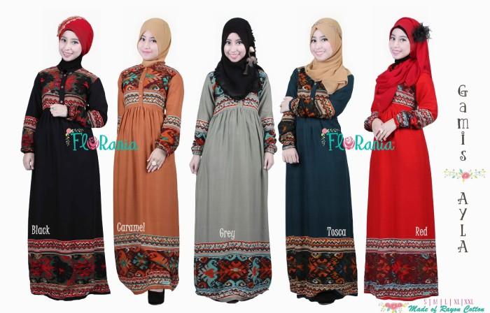 Jual Baju Muslimah Gamis Etnik Murah Ayla Florania Jovans Galery