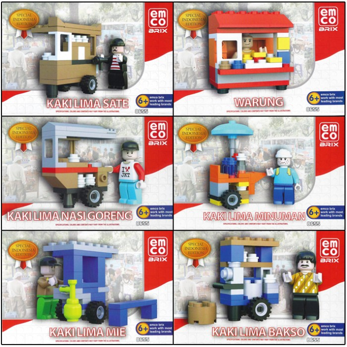 Senapan Mainan SWAT POLICE Shopee Indonesia Source · Emco Brix Lego Special Indonesia Edition Kaki Lima