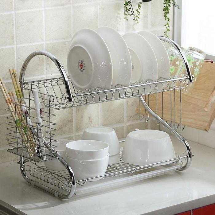 Dish Drainer / rak piring / tempat pengering peralatan setelah dicuci