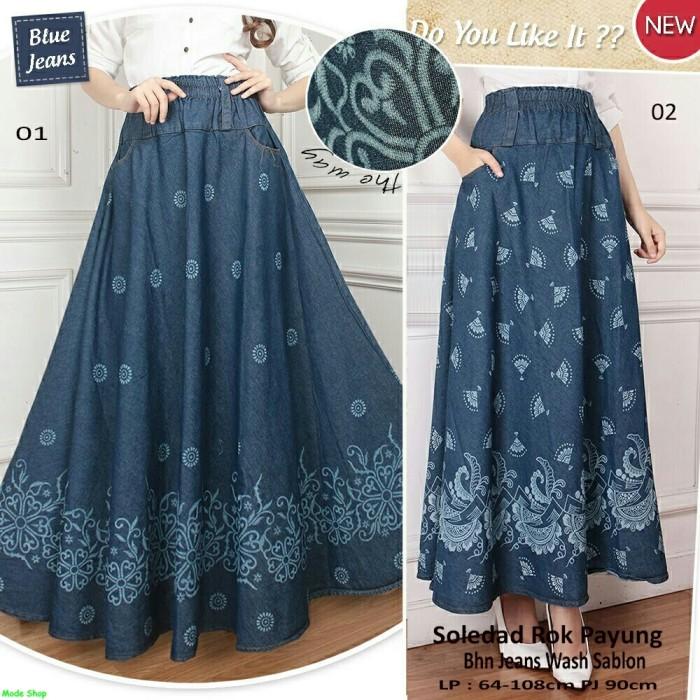 168 Collection Rok Maxi Cathrine Batik Long Skirt Coklat . Source · Soledad rok payung/