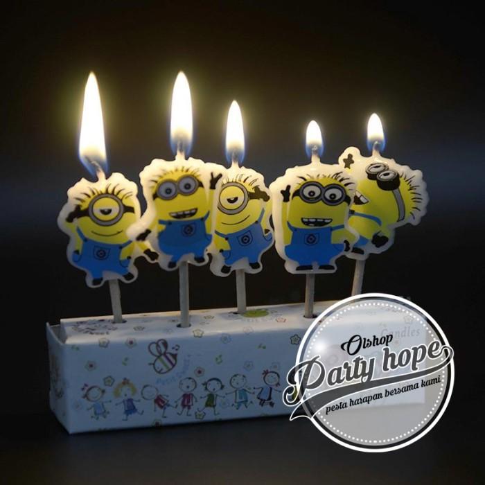 lilin ultah minion / lilin karakter minion / lilin kue minion