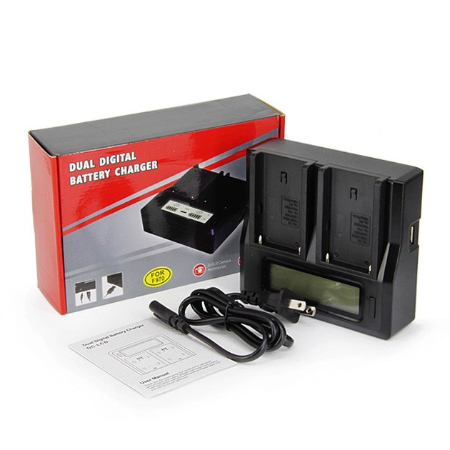 harga Lcd display dual digital battery charger for sony np-f550 f770 f970 Tokopedia.com