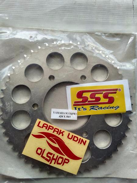 harga Gear belakang sss 428x46/47/48/49/50t yamaha scorpio/byson/vixion/r-15 Tokopedia.com