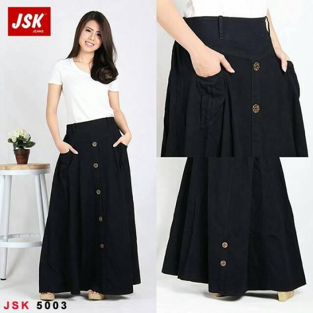 eb034f6a03bb46 Info Harga Rok Jeans Hitam Maxi Import   Rok Maxi Murah Di Jakarta ...