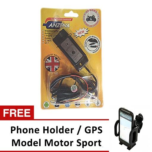 harga Anzena charger di motor usb - free phone holder motor sport Tokopedia.com