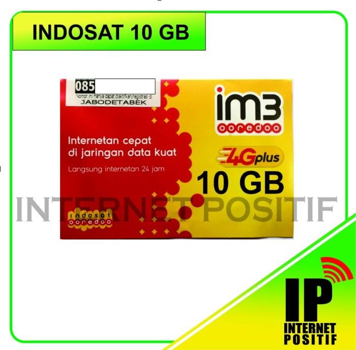 harga Indosat kuota 10 gb   kartu perdana internet indosat im3 kuota 10gb Tokopedia.com