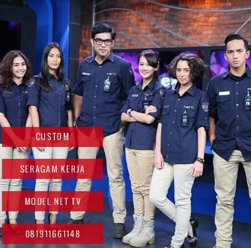 Jual baju seragam kerja model trans 7 trans tv net tv - Blackbenk mobile store   Tokopedia