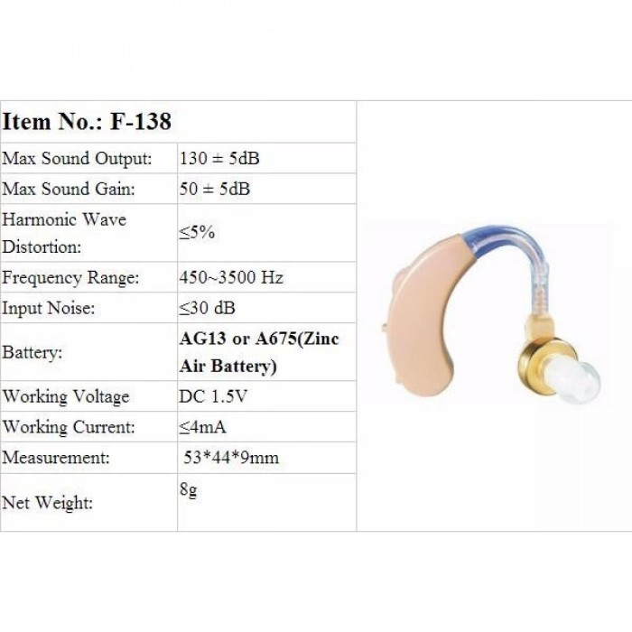 Alat Bantu Dengar Pengeras Suara Hearing Aid - F-138.